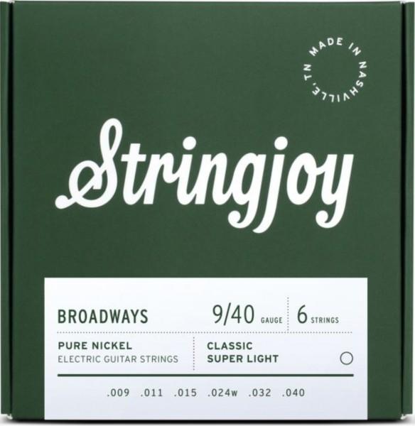 Stringjoy Broadways Pure Nickel 009-040