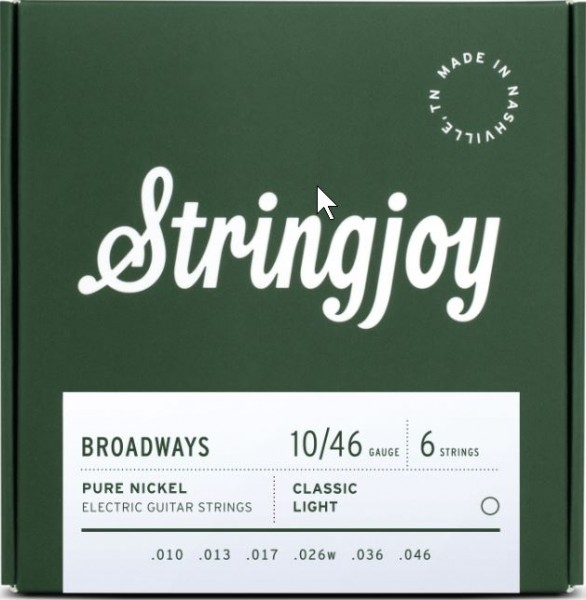 Stringjoy Broadways Pure Nickel 010-046