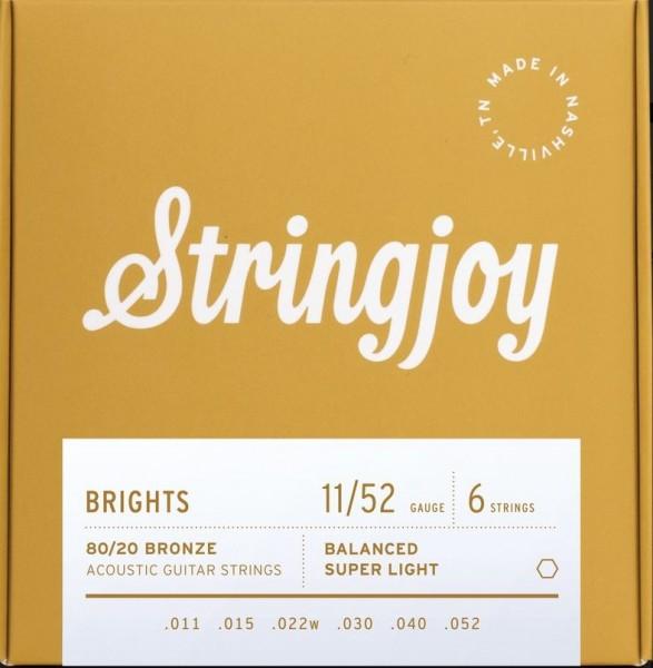 Stringjoy Brights 80/20 Bronze 011-052 Akustik